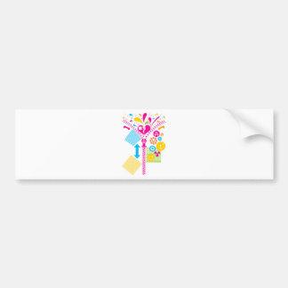 Zipper_Heart Bumper Sticker
