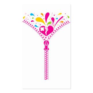 Zipper_Heart Business Card Templates