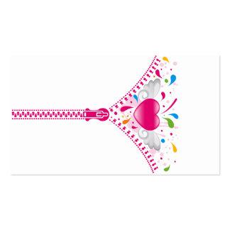 Zipper_Heart Business Card Template