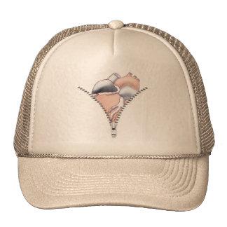 Zipper Heart Trucker Hats