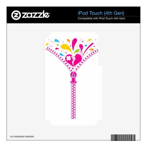 Zipper_Heart iPod Touch 4G Skins