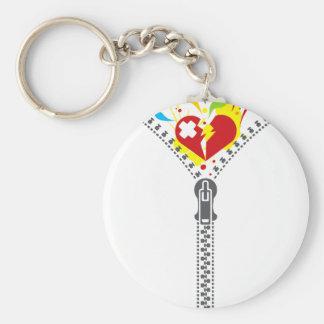 Zipper_Heart Keychain