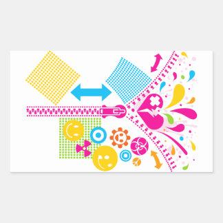 Zipper_Heart Rectangular Sticker