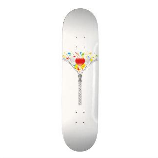 Zipper_Heart Skateboard Deck