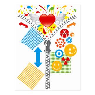 Zipper_Heart Tarjetas Postales