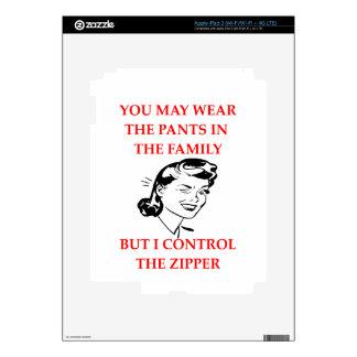 ZIPPER iPad 3 DECALS