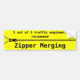 Zipper Merge Bumper Sticker