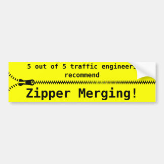 Zipper Merge Bumper Sticker