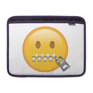 Zipper-Mouth Face - Emoji MacBook Sleeve