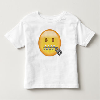 Zipper-Mouth Face Emoji Toddler T-shirt
