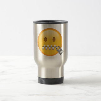 Zipper-Mouth Face - Emoji Travel Mug