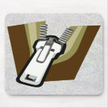"""Zipper On A Mousepad"" Mouse Pad"