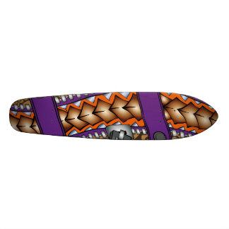 Zipper: Polynesian tattoo graphic. Skateboard Deck