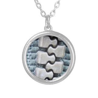 Zipper Round Pendant Necklace