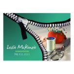 """Zipper"" - Sewing, Dressmaker, Seamstress, Tailor Business Cards"