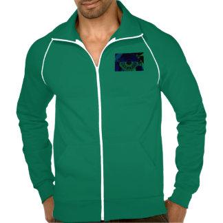 zipper sweater for men w Tao i-ching WuWei Printed Jackets