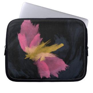 Zippered Laptop Sleeve, Midnight Flight Watercolor Laptop Sleeve