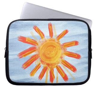 Zippered Laptop Sleeve, Sunshine Painting Laptop Sleeve