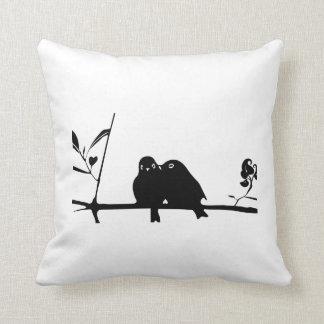 Zipperless pillow Love Bird Silhoutte
