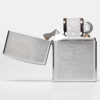 ZIPPO Brushed Chrome Pocket Lighter Add Your Own