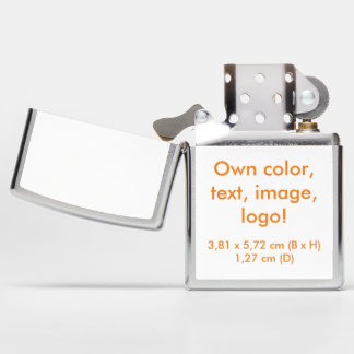 Zippo Lighter uni White ~ Own Color