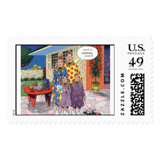 Zippy and his Nuclear Family Postage