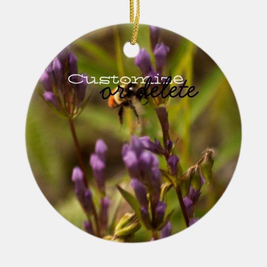 Zippy Bee; Customizable Ceramic Ornament