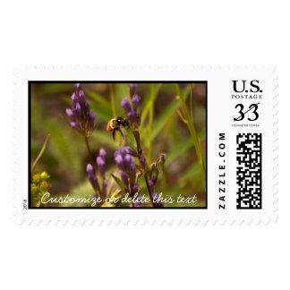 Zippy Bee; Customizable Postage Stamps