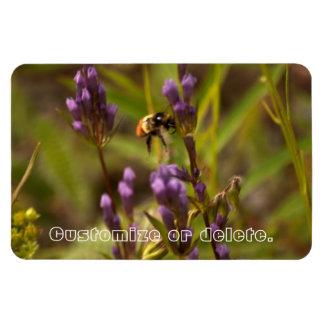 Zippy Bee; Customizable Rectangular Photo Magnet