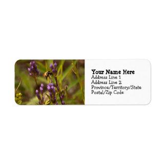Zippy Bee Return Address Label