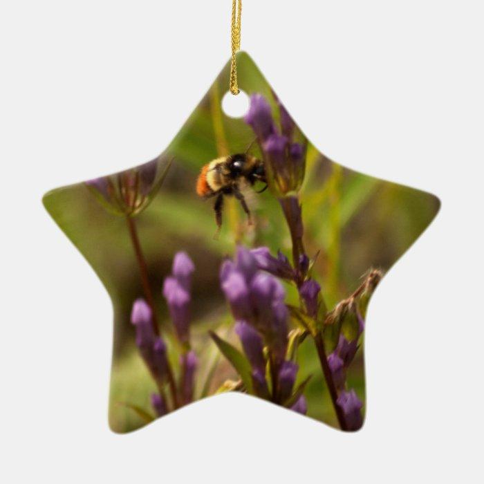 Zippy Bee; No Text Ceramic Ornament