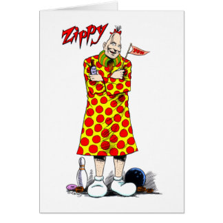 Zippy blank note card
