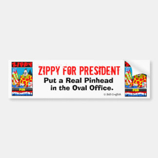 Zippy For President Bumper Sticker