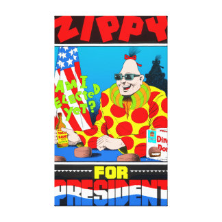 Zippy For President Canvas Stretched Canvas Print