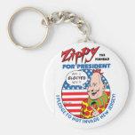 Zippy for President! Keychain