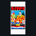 """Zippy For President! Rack Card<br><div class=""""desc"""">He could be next year&#39;s Nobel Peace Prize winner.</div>"""