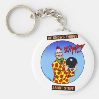 Zippy knows things.... basic round button keychain