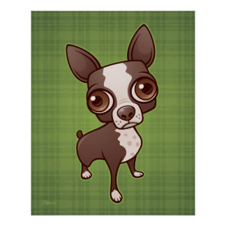 Zippy the Boston Terrier Print