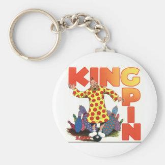 Zippy the King Pin Basic Round Button Keychain