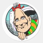 Zippy the Pinhead Round Sticker