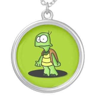 Zippy the TurtleNecklace Round Pendant Necklace