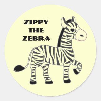 Zippy the Zebra Fun Stickers
