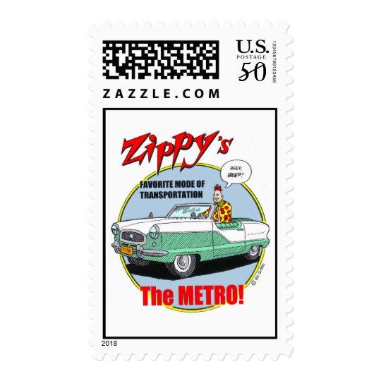 Zippy's favorite vehicle. postage