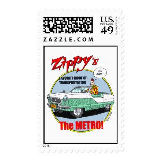 Zippy's favorite vehicle. postage stamp