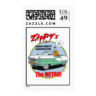 Zippy's favorite vehicle. postage stamps