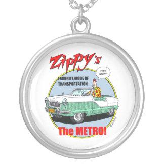 Zippy's Metro Round Pendant Necklace