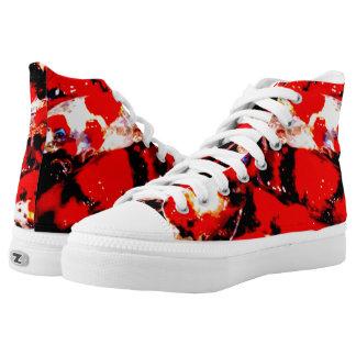 Zips High Top shoes, men and women, koi fish print