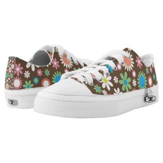 Zipz Athletic Shoes - Flower Power Design Printed Shoes
