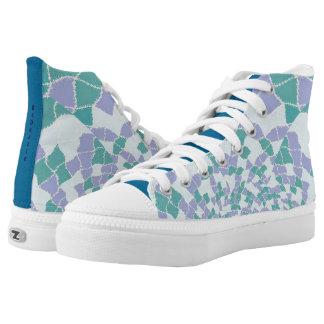 Zipz High Top Shoes BeDazzle Design Blue