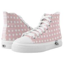Zipz High Tops - Pink Polkadots - New Fashion Shoe